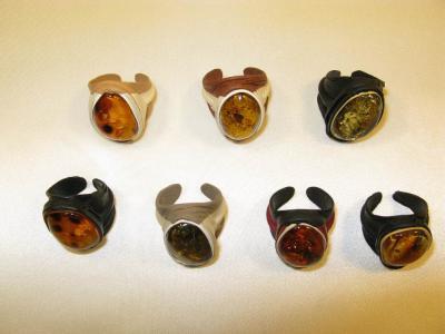 bursztynowe pierścionki 2