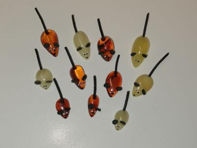 bursztynowe myszki